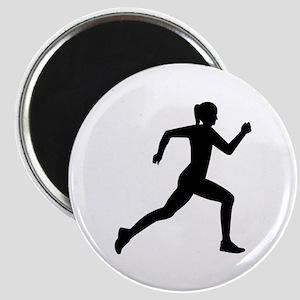 Running woman girl Magnet