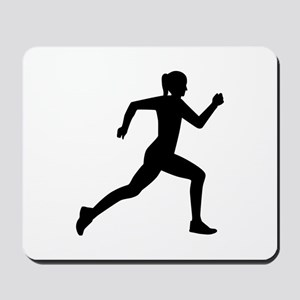 Running woman girl Mousepad