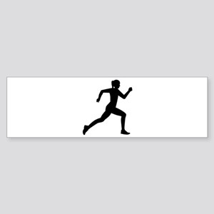 Running woman girl Sticker (Bumper)