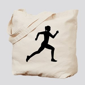Running woman girl Tote Bag