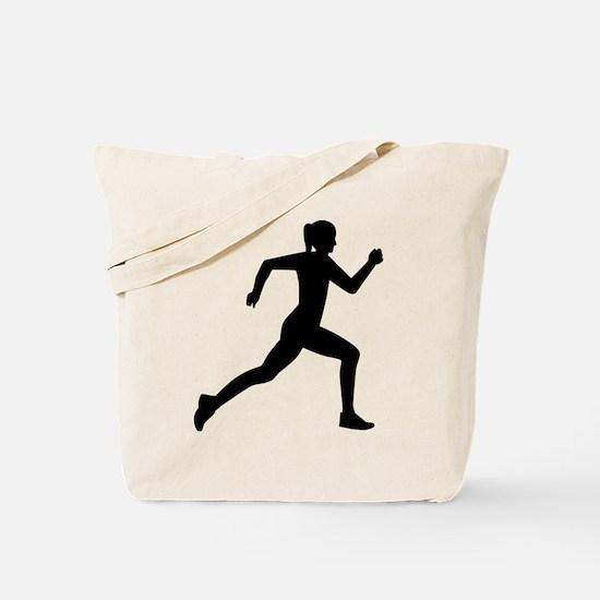 Running woman girl Tote Bag