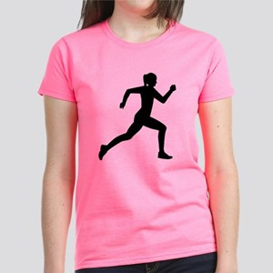 Running woman girl Women's Dark T-Shirt