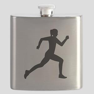 Running woman girl Flask