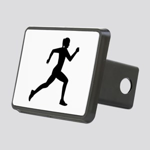 Running woman girl Rectangular Hitch Cover