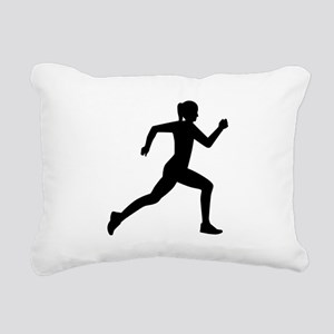 Running woman girl Rectangular Canvas Pillow
