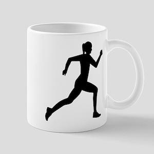 Running woman girl Mug