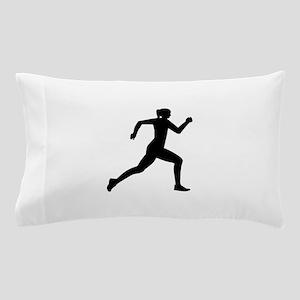 Running woman girl Pillow Case