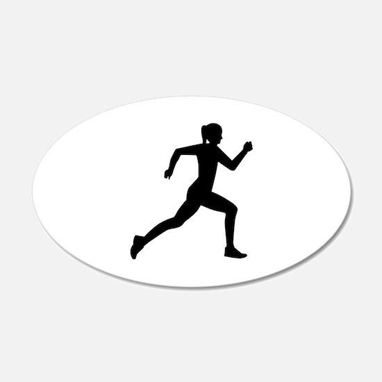 Running woman girl Wall Decal