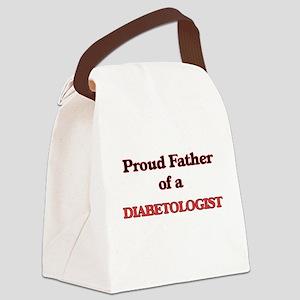 Proud Father of a Diabetologist Canvas Lunch Bag