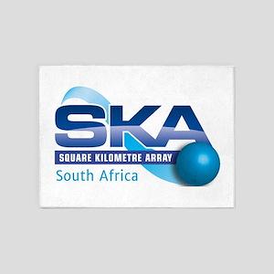 SKA Sourth Africa 5'x7'Area Rug