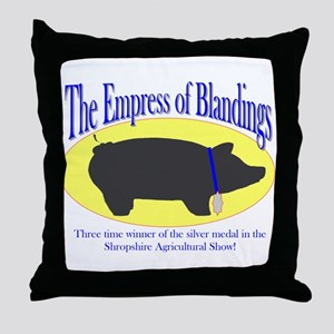 Empress of Blandings Throw Pillow