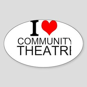 I Love Community Theatre Sticker