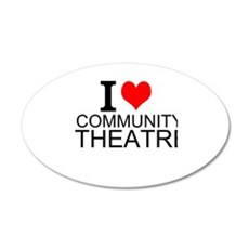 I Love Community Theatre Wall Decal