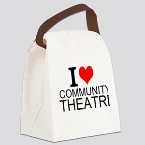 I Love Community Theatre Canvas Lunch Bag