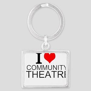 I Love Community Theatre Keychains