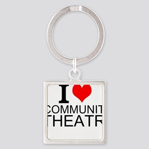 I Love Community Theatre Keychains