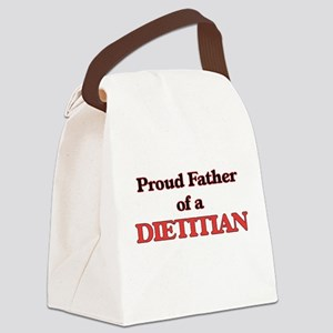 Proud Father of a Dietitian Canvas Lunch Bag