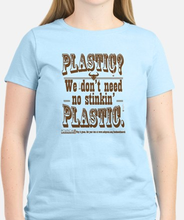 Plastic? We dont need n Women's Cap Sleeve T-Shirt