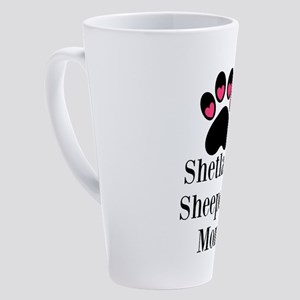 Shetland Sheepdog Mom 17 oz Latte Mug
