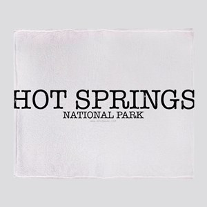 Hot Springs National Park Throw Blanket