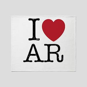 I Love AR Arkansas Throw Blanket