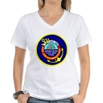 USS Caloosahatchee (AO 98) Women's V-Neck T-Shirt