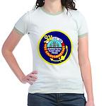 USS Caloosahatchee (AO 98) Jr. Ringer T-Shirt