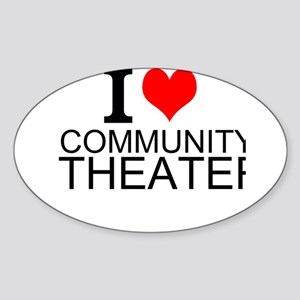 I Love Community Theater Sticker