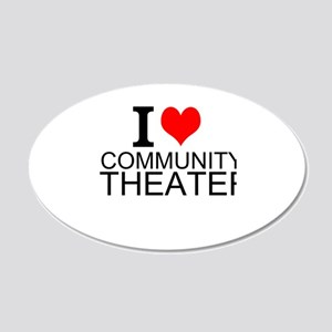 I Love Community Theater Wall Decal
