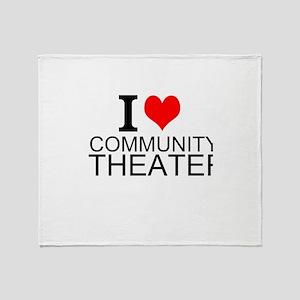 I Love Community Theater Throw Blanket