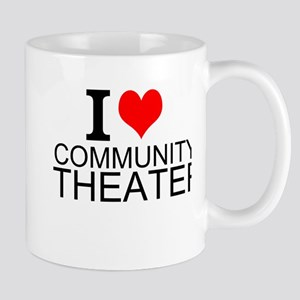 I Love Community Theater Mugs