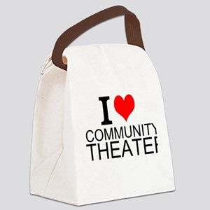 I Love Community Theater Canvas Lunch Bag