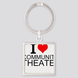 I Love Community Theater Keychains