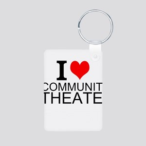 I Love Community Theater Keychains