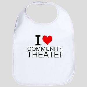 I Love Community Theater Bib
