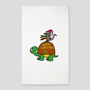 christmas turtle Area Rug