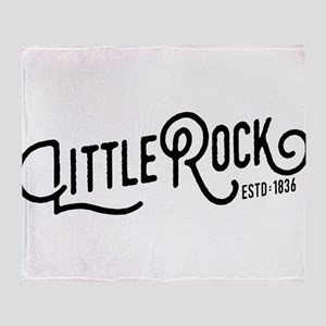 Little Rock Arkansas Throw Blanket