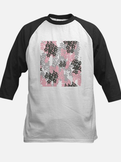 Pink Pixel Camouflage Baseball Jersey