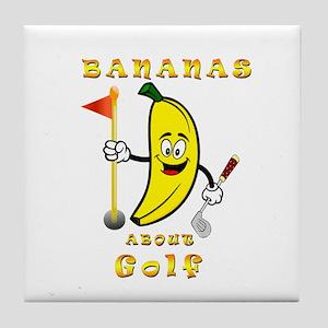 Bananas about golf Tile Coaster