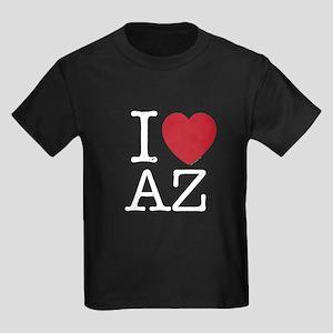 I Love AZ Arizona Kids Dark T-Shirt