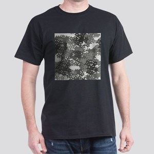 Pixel Grey and White Urban Camouflage T-Shirt
