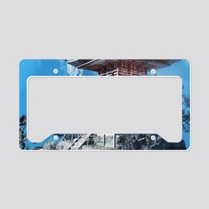 Zen Temple License Plate Holder