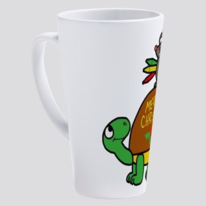 christmas turtle 17 oz Latte Mug