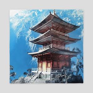 Zen Temple Queen Duvet
