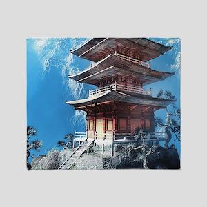 Zen Temple Throw Blanket