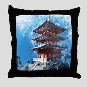 Zen Temple Throw Pillow