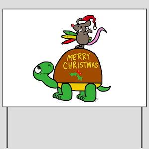 christmas turtle Yard Sign