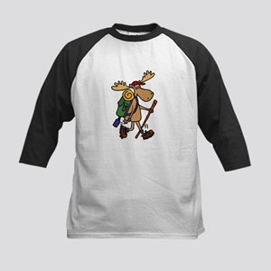 Moose Hiking Baseball Jersey