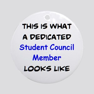 dedicated student council member Round Ornament