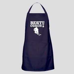 Best Hockey Coach Ever Apron (dark)